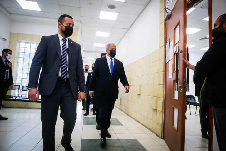 Биньямин Нетаниягу в суде фото