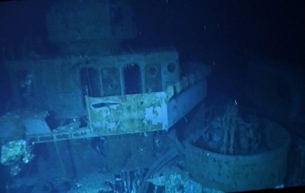 Затонувший эсминец США фото