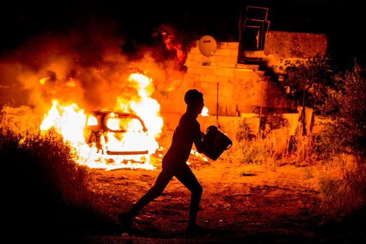 Беспорядки в Восточном Иерусалиме фото