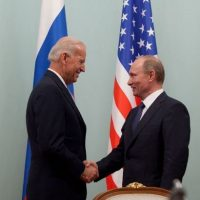 Джо Байден и Владимир Путин фото