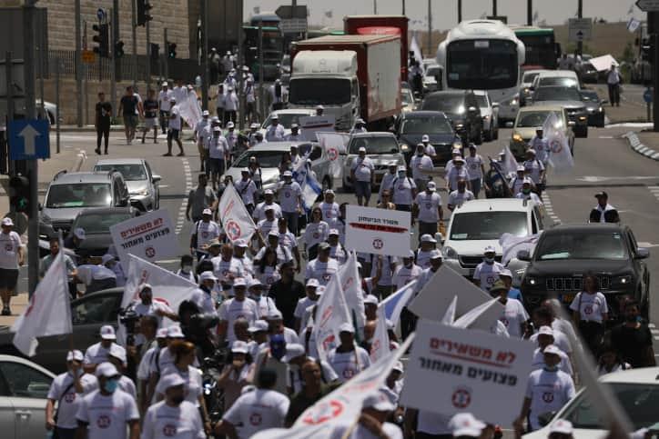 Протест ветеранов-инвалидов ЦАХАЛа фото