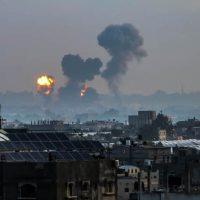 ВВС Израиля наносит ракетный удар по целям ХАМАС фото