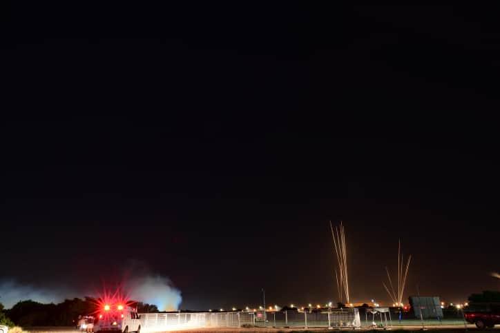Ракетные обстрелы из Газы по Тель-Авиву и центру Израиля фото