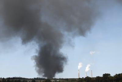 небо дым Израиль фото