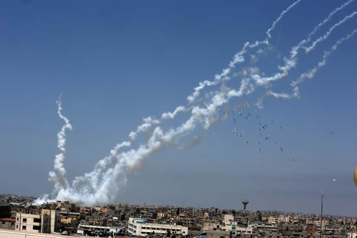 Ракетный обстрел из Газы фото