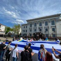 Митинг в Киеве в поддержку Израиля фото