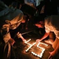 Похороны одного из погибших на горе Мерон фото