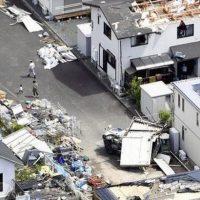 Последствия торнадо в Японии фото
