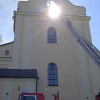 Пожар в уникальном храме в Беларуси фото