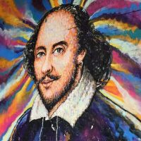 Уильям Шекспир граффити фото
