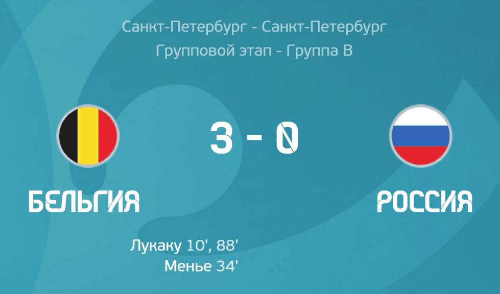 Бельгия - Россия 3-0 картинка