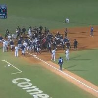 Драка во время бейсбольного матча в Мексике фото