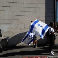 флаг Израиле Иерусалим марш фото