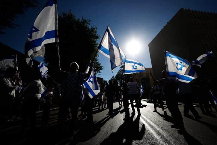 Марш флага в Иерусалиме фото