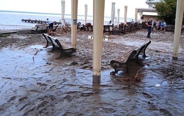 Наводнение в Ялте фото