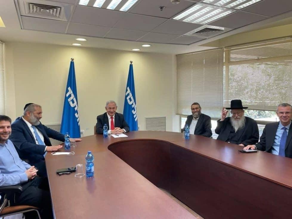 Нетаниягу на встрече с лидерами правых партий фото