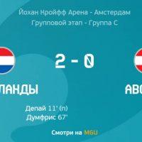 Нидерланды - Австрия 2-0 Евро-2020 футбол фото