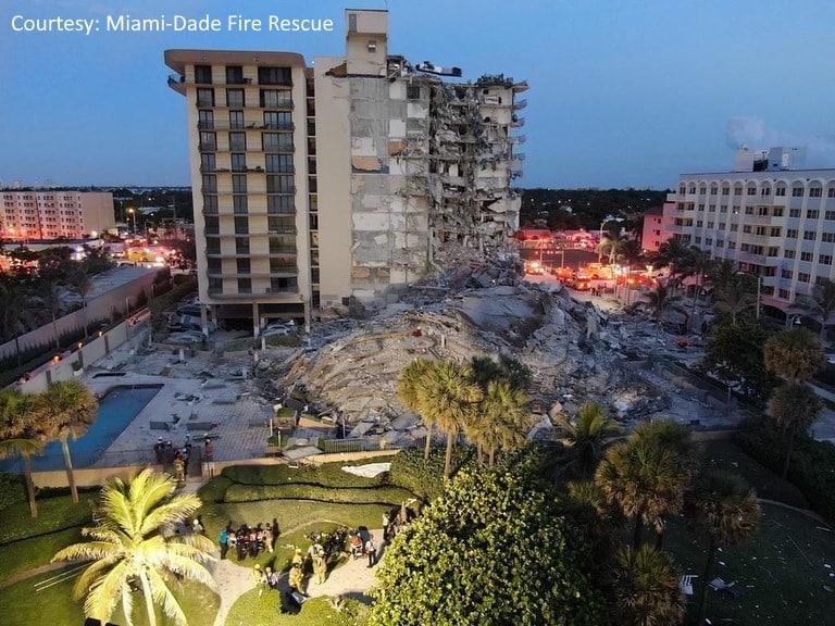 Обрушение дома в пригороде Майами фото