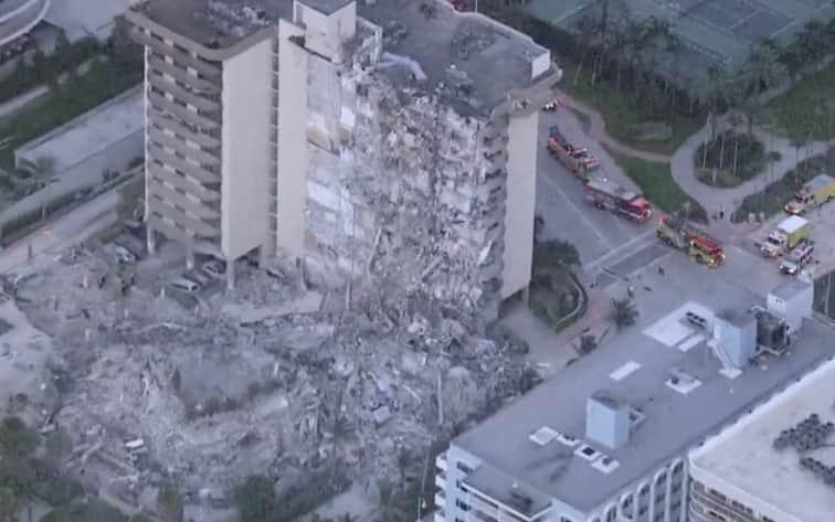 Обрушение здания в Майами фото