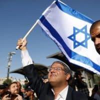 Протест Итамара Бен-Гвира у Шхемских ворот фото