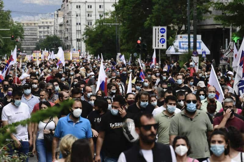 Протесты в Греции фото