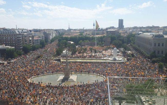 Протесты в Мадриде фото