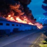 Пожар в Праге фото