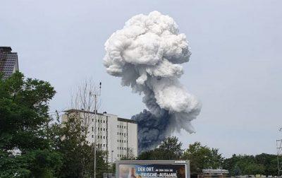 В Германии произошел мощный взрыв на предприятии крупнейшей химической компании