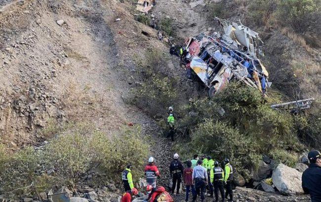 Авария автобуса в Перу фото