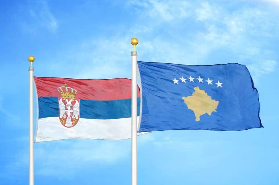 Флаги Сербии и Косово фото