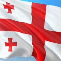 Флаг Грузии фото