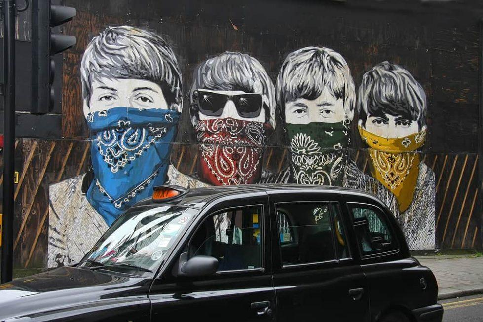 Граффити The Beatles фото