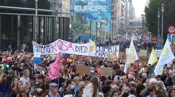 Климатический митинг в Брюсселе фото