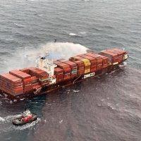 Пожар на израильском судне фото