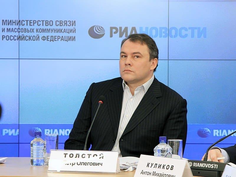 Российский политик Петр Толстой фото